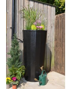 255L Metropolitan Water Butt with Planter in Black