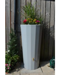 255L Metropolitan Water Butt with Planter in Grey