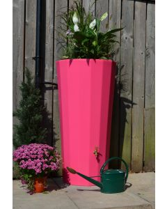 255L Metropolitan Water Butt with Planter in Pink