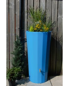 255L Metropolitan Water Butt with Planter in Sky Blue