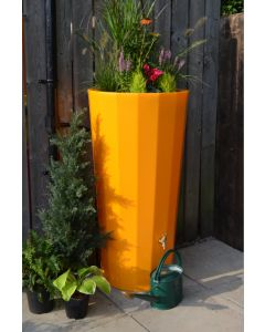 255L Metropolitan Water Butt with Planter in Zesty Orange