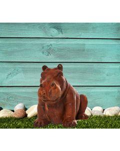 Mini Happy Hippo Cast Iron Statue