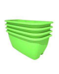 Rainwater Terrace 4 Pack Planter Kit - Bright Green (4 Planters & 4 Capillary Mats)