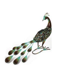 Solar Powered Peacock Garden Ornament