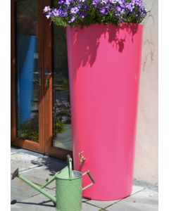 380 Litre Garden Planter Water Butt Pink with Tap Kit & Diverter