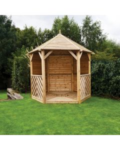 Kelkay Willoughy Wooden Gazebo With Closed Side