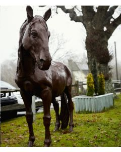 Cast Iron Life-sized Horse Statue, Proud