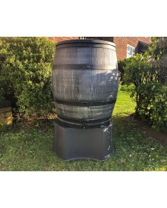 ROTO Anthracite/Grey Water Barrel 240L With Stand, Tap & Lid