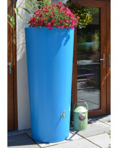 380 Litre Garden Planter Water Butt Sky Blue with Tap Kit & Diverter