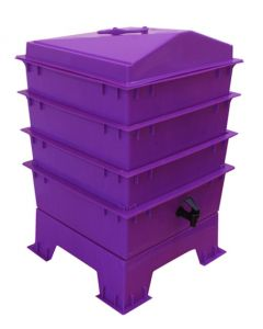 3 Tray Standard Pet & Dog Poo Wormery Dark Orchid Purple