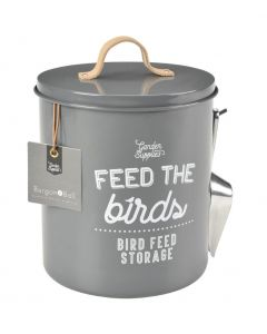 Feed the Birds Tin - Charcoal
