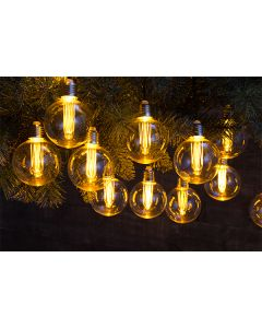 20 vintage globe style bulb light chain