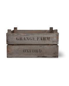 Vintage Wooden Fruit Boxes (Set of 3)
