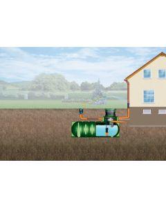 GARANTIA Flat tank Li-Lo 1500L Garden Rainwater Harvesting Package (Pedestrian)