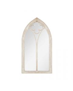 Small Antique Metal Gothic Garden Mirror