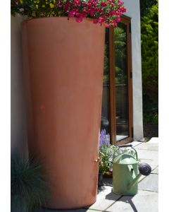 380 Litre Garden Planter Water Butt Wash Terracotta with Tap Kit & Diverter