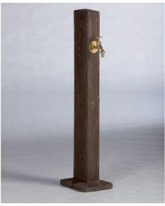 Wood Effect Garden Watering Post in Walnut