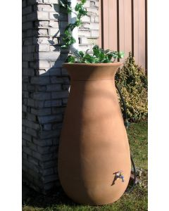 245L Cascata Clay Effect Water Butt with Planter