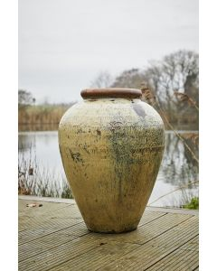 Fujian Patterned Water Jar 81cm In Yellow