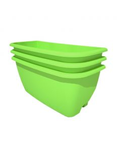 Rainwater Terrace 3 Pack Planter Kit - Bright Green (3 Planters & 3 Capillary Mats)