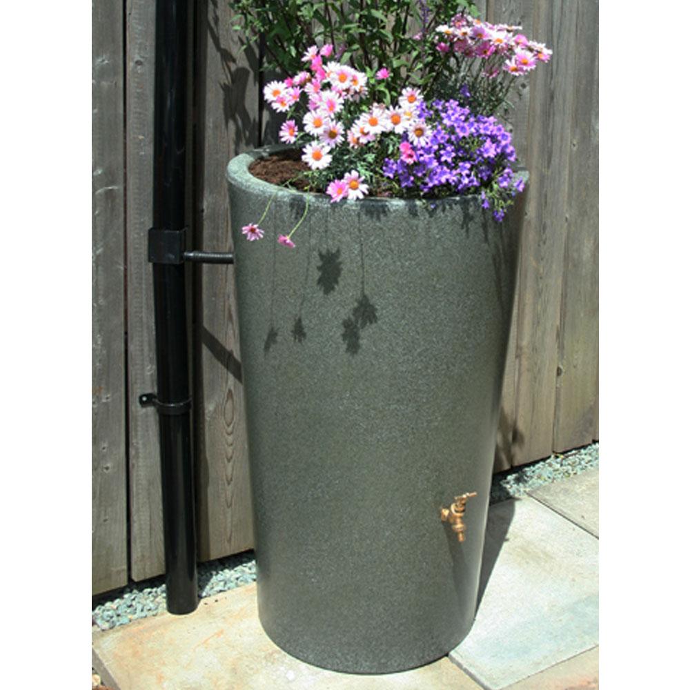180L Garden Planter Water Butt Green Marble