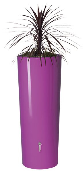 350L Opulent Colour 2 in 1 Water Tank with Planter - Cassis Purple