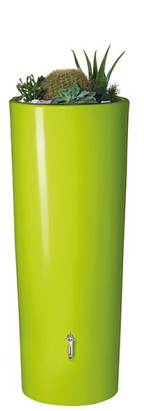 350L Opulent Colour 2 in 1 Water Tank with Planter - Apple Green