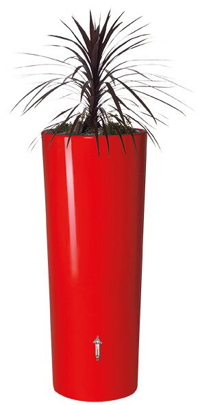 350L Opulent Colour 2 in 1 Water Tank with Planter - Tomato Red