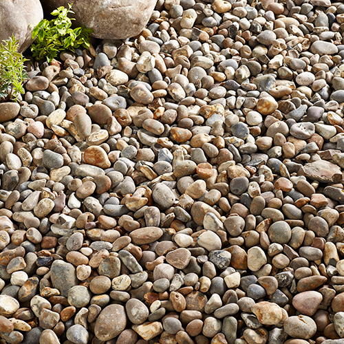 Kelkay River Washed Pebbles Decorative Aggregate, Bulk Bag
