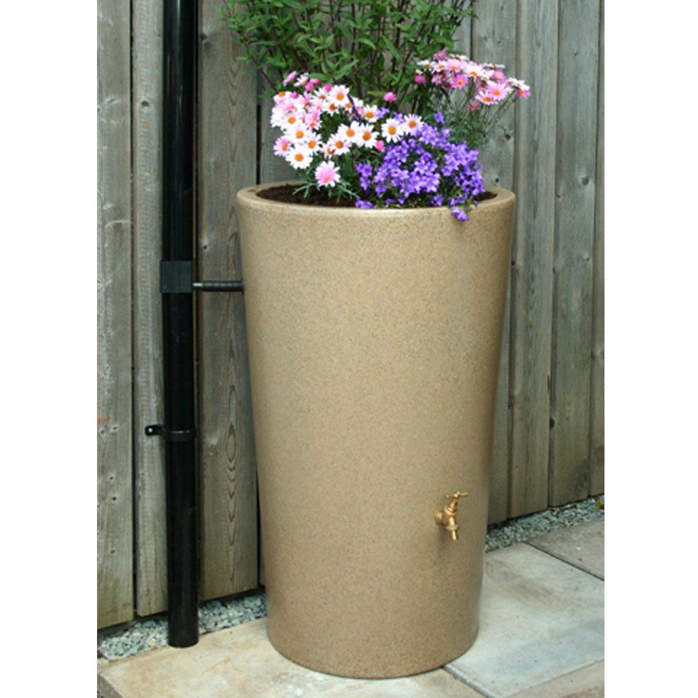 180L Garden Planter Water Butt Sandstone