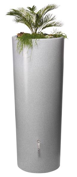 350L Gabbro Stone Effect 2 IN 1 Water Tank - Silver Stone