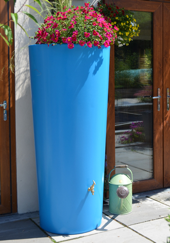 380L Garden Planter Water Butt Sky Blue with Tap Kit & Diver
