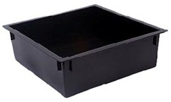 Tiger Wormery Tray in Black