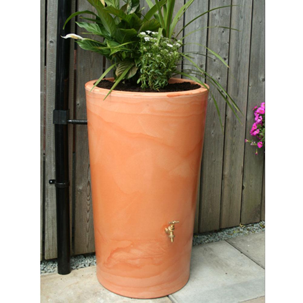 180L Garden Planter Water Butt Wash Terracotta